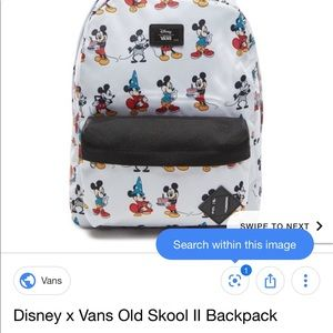 Vans X Disney Mickey Mouse backpack